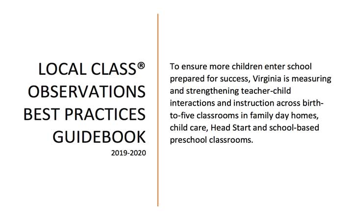 Image of first page of the CLASS Local Observations Best Practices Guidebook
